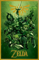 The Legend of Zelda poster: Links (24x36) Nintendo