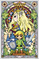 The Legend of Zelda poster: Stained Glass (24x36) Nintendo
