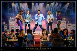 Legends Theatre poster (Elvis, Buddy Holly, Lennon, Hendrix etc) 36x24