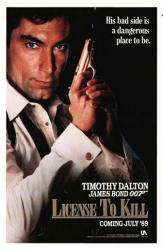 License To Kill movie poster [Timothy Dalton as James Bond] 27x41
