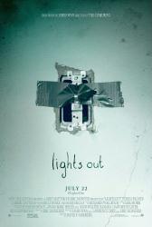 Lights Out movie poster (2016 horror film) original 27x40