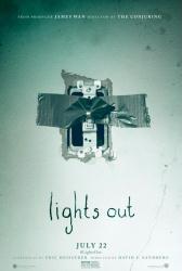Lights Out movie poster (2016 horror film) original 27x40 advance