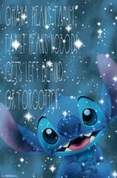 Lilo & Stitch poster: Ohana (22x34) Stitch