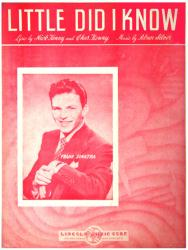 Little Did I Know vintage sheet music [Frank Sinatra] 1943
