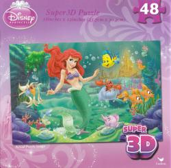 Disney Princess jigsaw puzzle: Little Mermaid 48 pc Super 3D puzzle