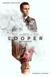 Looper movie poster [Joseph Gordon-Levitt, Bruce Willis] 27x40 advance