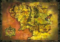 The Lord of the Rings poster: Map of Middle Earth (36'' X 24'')