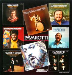 Luciano Pavarotti poster: 1981 London Records vintage LP/Album flat