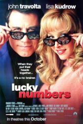 Lucky Numbers movie poster [John Travolta & Lisa Kudrow] NM