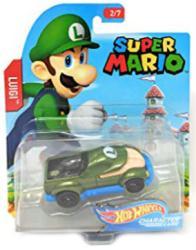 Hot Wheels Character Cars: Super Mario Luigi die-cast vehicle
