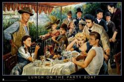 Lunch on the Party Boat poster [James Dean, Marilyn Monroe, etc] 36x24