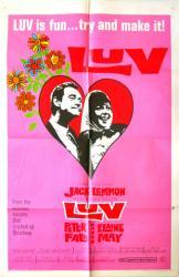 Luv movie poster [Jack Lemmon & Elaine May] original 1967 one-sheet