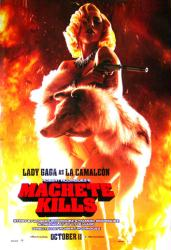 Machete Kills movie poster [Lady Gaga as La Camaleon] original 27x40