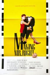 Making Mr. Right movie poster [John Malkovich, Ann Magnuson] 27x41