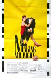 Making Mr. Right movie poster [John Malkovich] original 27x41