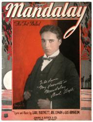 Mandalay vintage sheet music [Charlie Chaplin] 1924