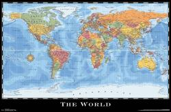 Map of the World 2017 poster (34x22) World Map 2017