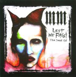 Marilyn Manson poster: Lest We Forget Best Of vintage LP/Album flat