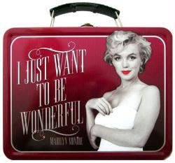 Marilyn Monroe: Quotes collectible Lunch Box Tin Tote