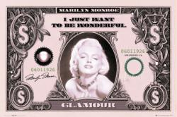 Marilyn Monroe poster: Glamour Dollar (36'' X 24'') New