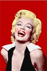 Marilyn Monroe poster: Marilyn on Red (24x36)