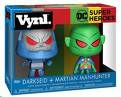 "DC Super Heroes: Darkseid + Martian Manhunter 4"" Vynl figures (Funko)"