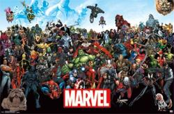 Marvel Comics poster: The Line Up (34x22)
