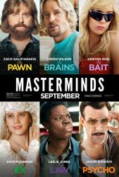 Masterminds movie poster [Zach Galifianakis, Owen Wilson, Wiig] 27x40