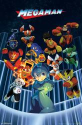 Mega Man video game poster: Group (22x34)
