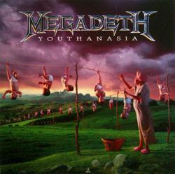 Megadeth poster: Youthanasia vintage LP/Album flat