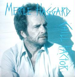 Merle Haggard poster: Chill Factor vintage LP/Album flat (1987)
