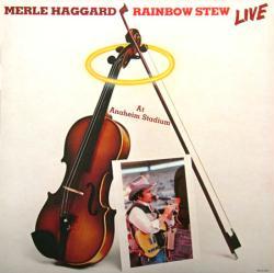 Merle Haggard poster: Rainbow Stew Live vintage LP/Album flat (1981)