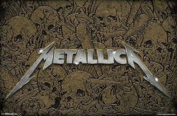 Metallica poster: Logo and Skulls (34x22) Heavy Metal