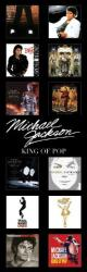 Michael Jackson poster: Album Covers Discography (12x36)