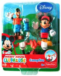 Mickey Mouse Clubhouse: Campfire Mickey & Goofy figure set