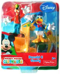 Mickey Mouse Clubhouse: Donald & Goofy figures (Fisher Price) Disney
