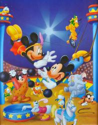 Mickey Mouse & Minnie Mouse poster: Trapeze (16'' X 20'') Disney