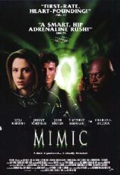 Mimic movie poster [Mira Sorvino, Jeremy Northam & Charles S. Dutton]