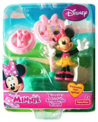Minnie: Sippin' Smoothie Stand Minnie Mouse figure set (pink tray)