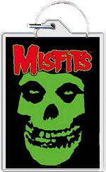 "Misfits keychain: Skull (1 1/2"" X 2 1/4"")"