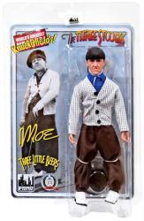 "The Three Stooges: Three Little Beers Moe 8"" retro-style action figure"