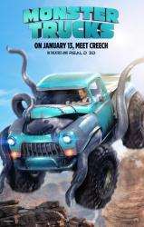 Monster Trucks movie poster [Lucas Till] original 27x40 advance