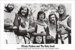 Monty Python and the Holy Grail movie poster (Knights of Round Table)