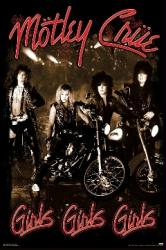 Motley Crue poster: Girls Girls Girls (24x36) cover art