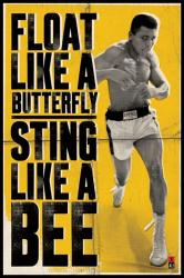Muhammad Ali poster: Float Like A Butterfly, Sting Like A Bee (24x36)