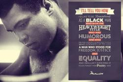 Muhammad Ali poster: How I'd Like to Be Remembered (36x24)