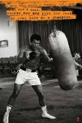 Muhammad Ali poster: Life as a Champion (24 X 36) Heavy Bag