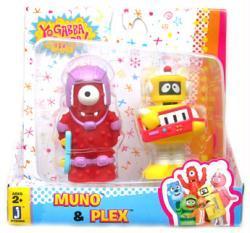 Yo Gabba Gabba: Muno & Plex figures 2-pack (Jazwares)