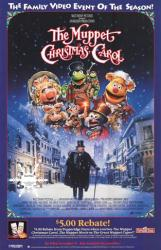 The Muppet Christmas Carol movie poster [Michael Caine] video