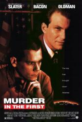 Murder In the First movie poster [Christian Slater, Kevin Bacon] 27x40